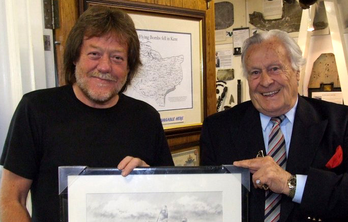 Geoff Nutkins (left) with Geoffrey Wellum