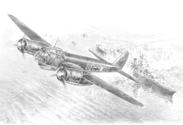 Kampf um Norwegen - Pencil Sketch print