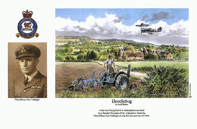 Pilot Officer Ron Pottinger - Doodlebug - Pilot Portrait print