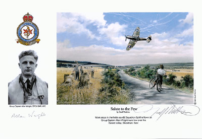 Group Captain Allan Wright - Salute to the Few - Pilot Portrait print