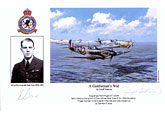 Wing Commander Bob Doe - A Gentleman's War - Pilot Portrait print