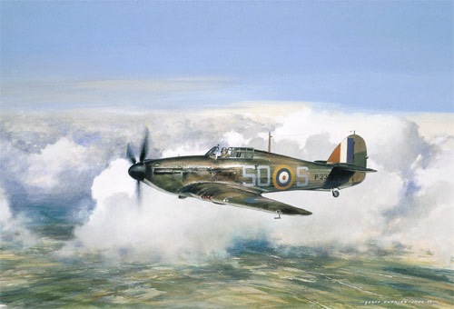 Hurricane - Scenes of the Battle of Britain print