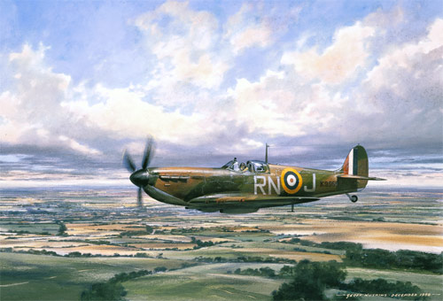 Spitfire on Patrol - Scenes of the Battle of Britain print