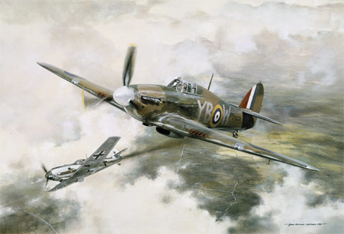 Duel - Scenes of the Battle of Britain print