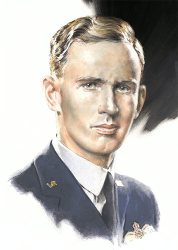 Flying Officer Nat Barry - Individuals print