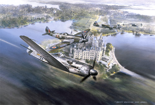 Combat over Lake Schwerin - Limited Edition print