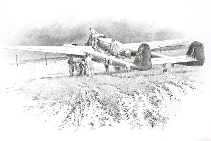Aviation Art Pencil Sketches