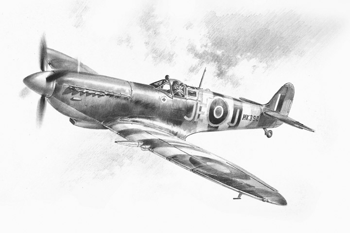 Ace of Aces (pencil) - Pencil Sketches - Aviation Art by ...