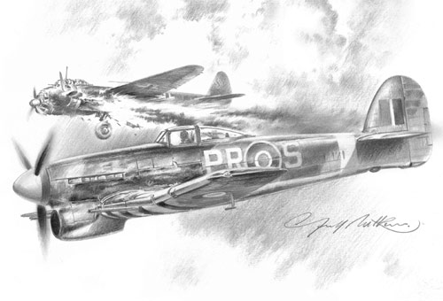 609 Squadron's 200th - Pencil Sketch print