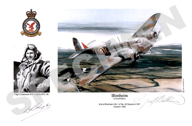 Flight Lieutenant W.R.Hughes : Blenheim