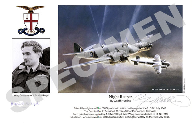 Wing Commander A.D.McN.Boyd : Night Reaper