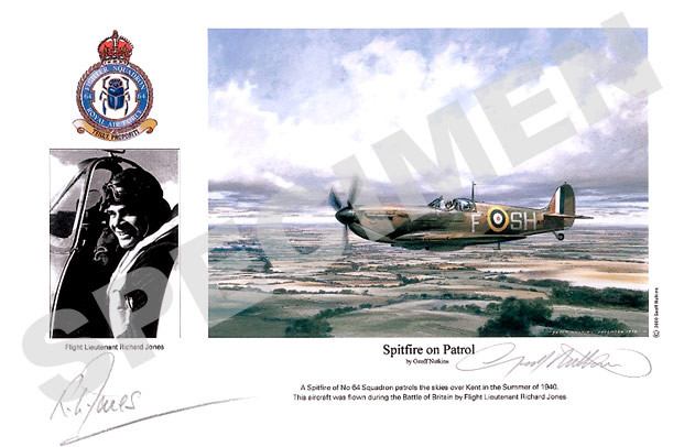 Flight Lieutenant Richard Jones : Spitfire on Patrol