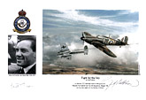 Wing Commander Jack Rose MBE, CMG, DFC - Fight for the Sky - Pilot Portrait print