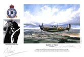 Flight Lieutenant Richard Jones - Spitfire on Patrol - Pilot Portrait print