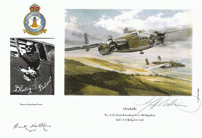Warrant Officer Frank Nutkins - Mitchells - Pilot Portrait print